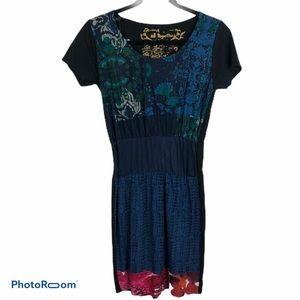 NWT Desigual Art-to-Wear Women's Patterned Dress